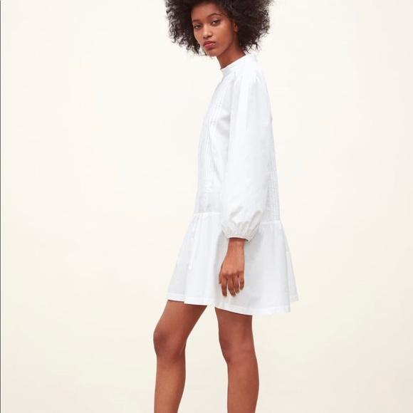 72721999 Zara Dresses | Nwt Pleated Poplin Dress | Poshmark